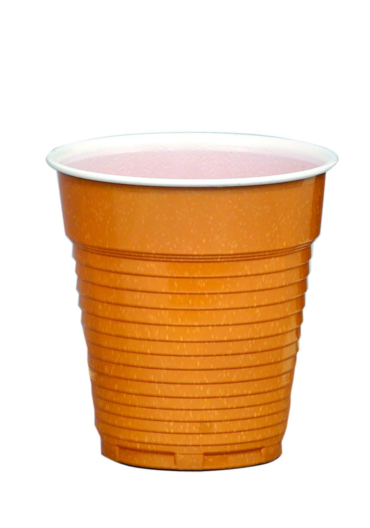 Пластмасови оребрени кафяви чаши